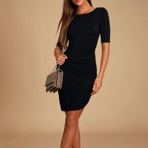 Steal Your Attention Black Bodycon Dress